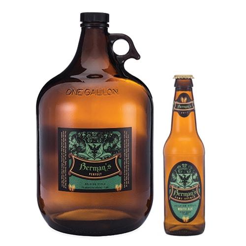 Beer Growler and Bottle