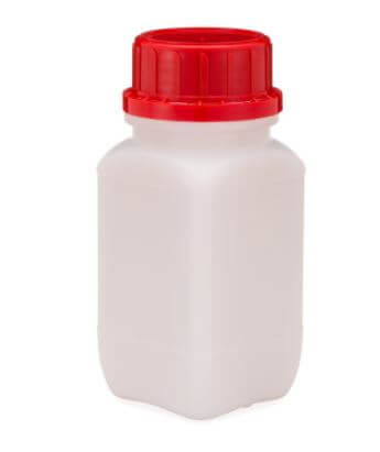 KAUTEX HDPE PLASTIC WIDE MOUTH UN-RATED BOTTLES WITH PE-FOAM INSERT CAP