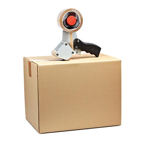 Shipping Box with Tape Gun